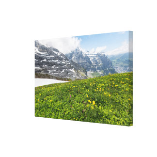 Lauterbrunnenの谷、スイス連邦共和国-キャンバス キャンバスプリント