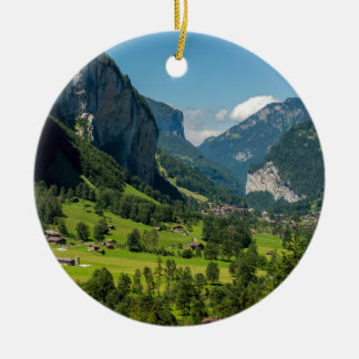 Lauterbrunnen - Berneseのアルプス-スイス連邦共和国 セラミックオーナメント