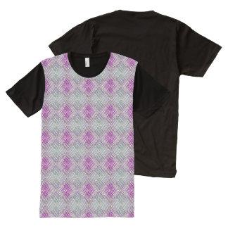 Lavendar及びヒースの織り方 オールオーバープリントT シャツ