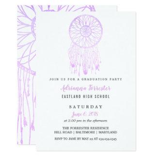 Lavender Bohemian Dream Catcher Graduation Party カード