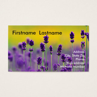 Lavender Business Card 1 名刺