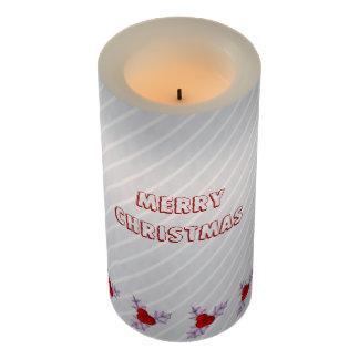 Lavender Holly Leaves Snow Stripe LED Candle LEDキャンドル