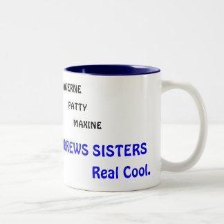 LAVERNE、ハンバーグ、MAXINEのアンドリュースの姉妹… ツートーンマグカップ