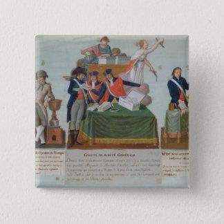 Lavoisier、Comite de Surete Generale 5.1cm 正方形バッジ