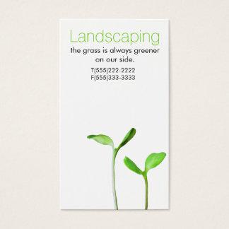 Lawncareの造園の法律の緑の芽 名刺