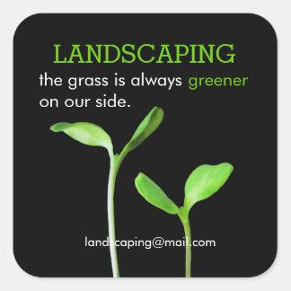 Lawncareの造園の芝生の緑の芽 スクエアシール