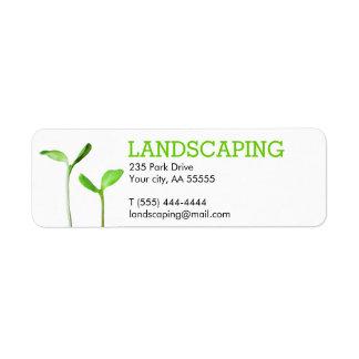 Lawncareの造園の芝生の緑の芽 ラベル