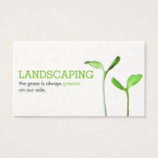 Lawncareの造園の芝生の緑の芽 名刺