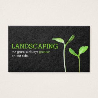 Lawncareの造園の芝生の緑は黒を発生させます 名刺