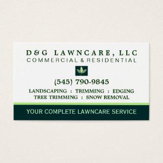 Lawncareまたは造園の正方形の葉の名刺 名刺