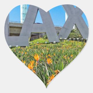 LAX空港印 ハートシール