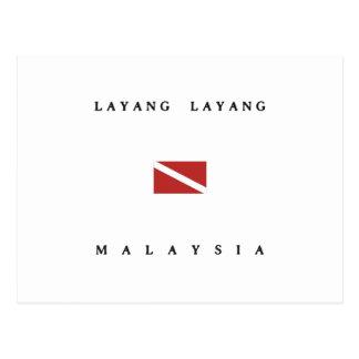 Layang Layangマレーシアのスキューバ飛び込みの旗 ポストカード