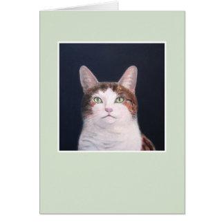 Layla猫-緑フレーム カード
