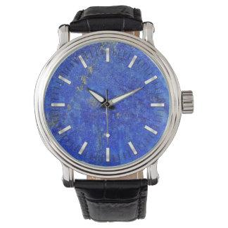 Lazuriteの青い宝石用原石 腕時計