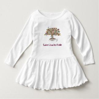 LCのプライドの幼児のひだの服(木か白) ドレス