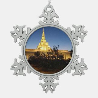 LDSの寺院のオーナメント スノーフレークピューターオーナメント