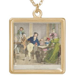 Le Cafeのパブ。 Rodwellおよびマーティン著、1820年(色 ゴールドプレートネックレス