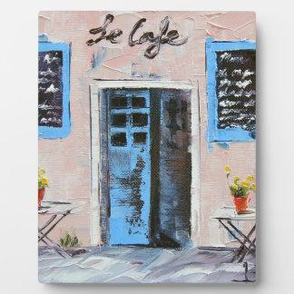 Le Cafeの油のパレットナイフの絵画 フォトプラーク