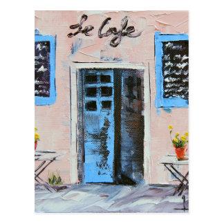 Le Cafeの油のパレットナイフの絵画 ポストカード