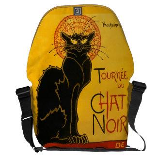Le Chat Noir黒猫のアールヌーボーのヴィンテージ クーリエバッグ