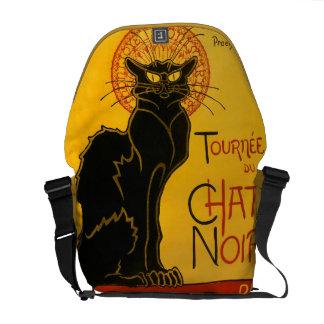 Le Chat Noir黒猫のアールヌーボーのヴィンテージ メッセンジャーバッグ