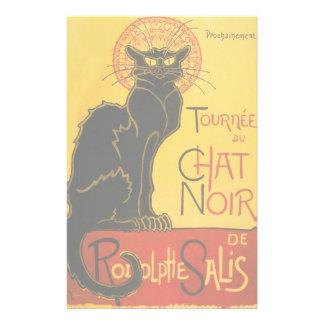 Le Chat Noir黒猫のアールヌーボーのヴィンテージ 便箋