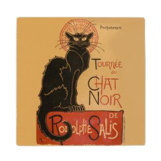 Le Chat Noir  の黒猫のアールヌーボーポスター ウッドコースター