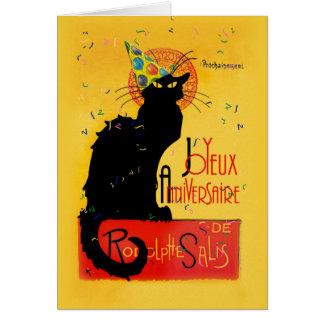 Le Chat Noir - Joyeux Anniversaire カード