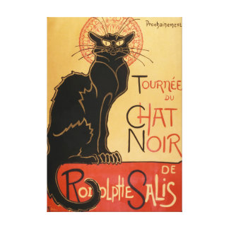 Le Chat Noir (the black cat) キャンバスプリント