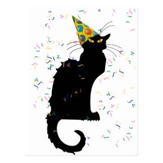 Le Chat Partyの帽子及び紙吹雪 ポストカード