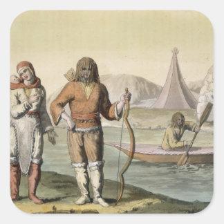 「Le Costume Ancienからのハドソン湾のエスキモー族、と スクエアシール