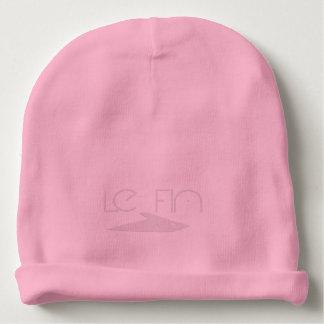 Le Finのスカル1のピンク ベビービーニー