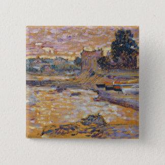 Le Lavandou、c.1908-09 (キャンバスの油) 5.1cm 正方形バッジ