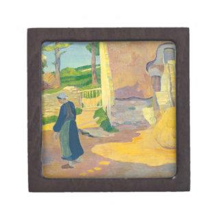Le Pouldu 1890年の農家(キャンバスの油) ギフトボックス