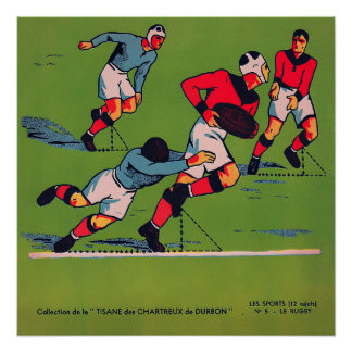 Le Rugby - Vintage 1920 Rugby Print ポスター