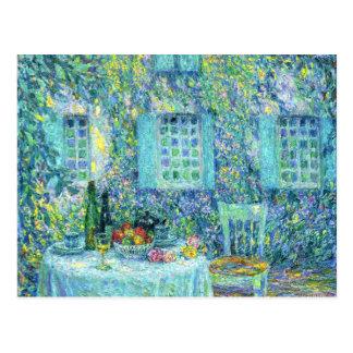 Le Sidaner: 葉のテーブルそして日曜日 ポストカード