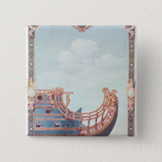 「Le Soleil Royal'のProw 5.1cm 正方形バッジ