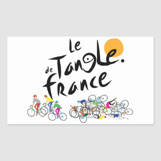 Le Tangle deフランス(Leツール・ド・フランス)のステッカー 長方形シール