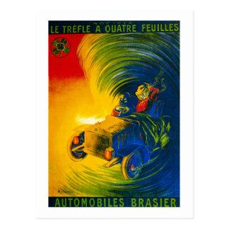 Le Trefle Quatre Feuilles -自動車Brasier はがき