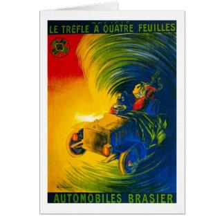 Le Trefle Quatre Feuilles -自動車Brasier カード