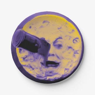 Le VoyageのdansのlaのLuneのヴィンテージの気紛れな紫色 ペーパープレート