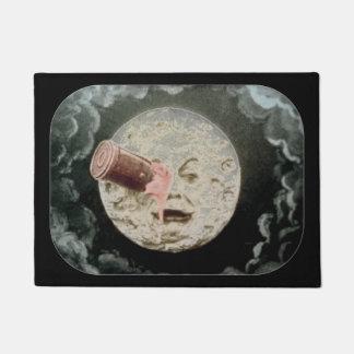 Le Voyageのdansのla Lune月のレトロへの旅行 ドアマット