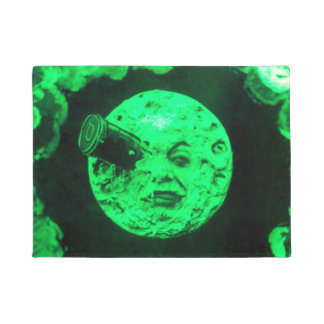 Le Voyageのdansのla Lune月の緑への旅行 ドアマット