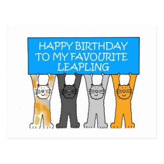 Leapling、うるう年の誕生日2月29日 ポストカード