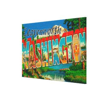 Leavenworth、ワシントン州-大きい手紙場面 キャンバスプリント