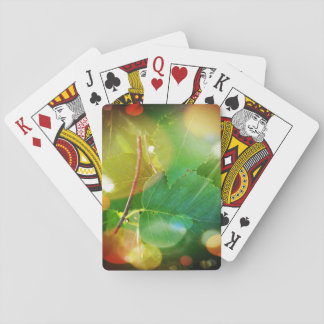 LeavesPlaying神秘的なカード、標準的な索引の顔 トランプ