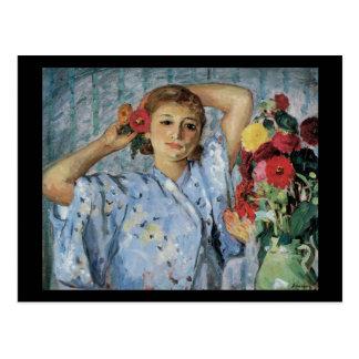 Lebasque Jeune Femmeの補助のフルーア ポストカード