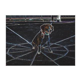 Lectro犬-ネオンビーグル犬のキャンバスプリント-たる製造人 キャンバスプリント