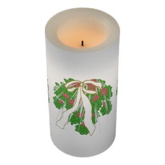 LEDの蝋燭のカスタムなヤドリギのリボンIcesickles LEDキャンドル