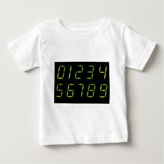 LEDはフォントに0-9と番号を付けます ベビーTシャツ